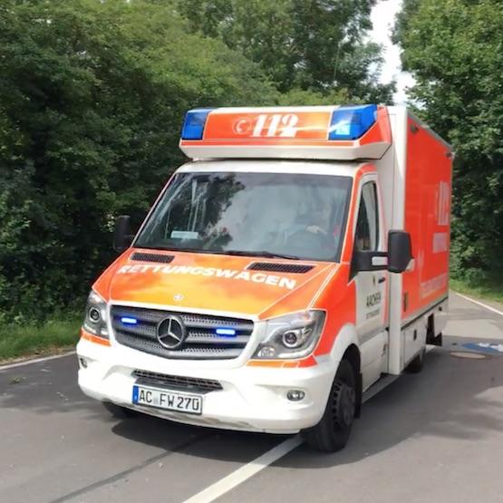 Rettungsdienstwagen mit TeleNotarzt-System