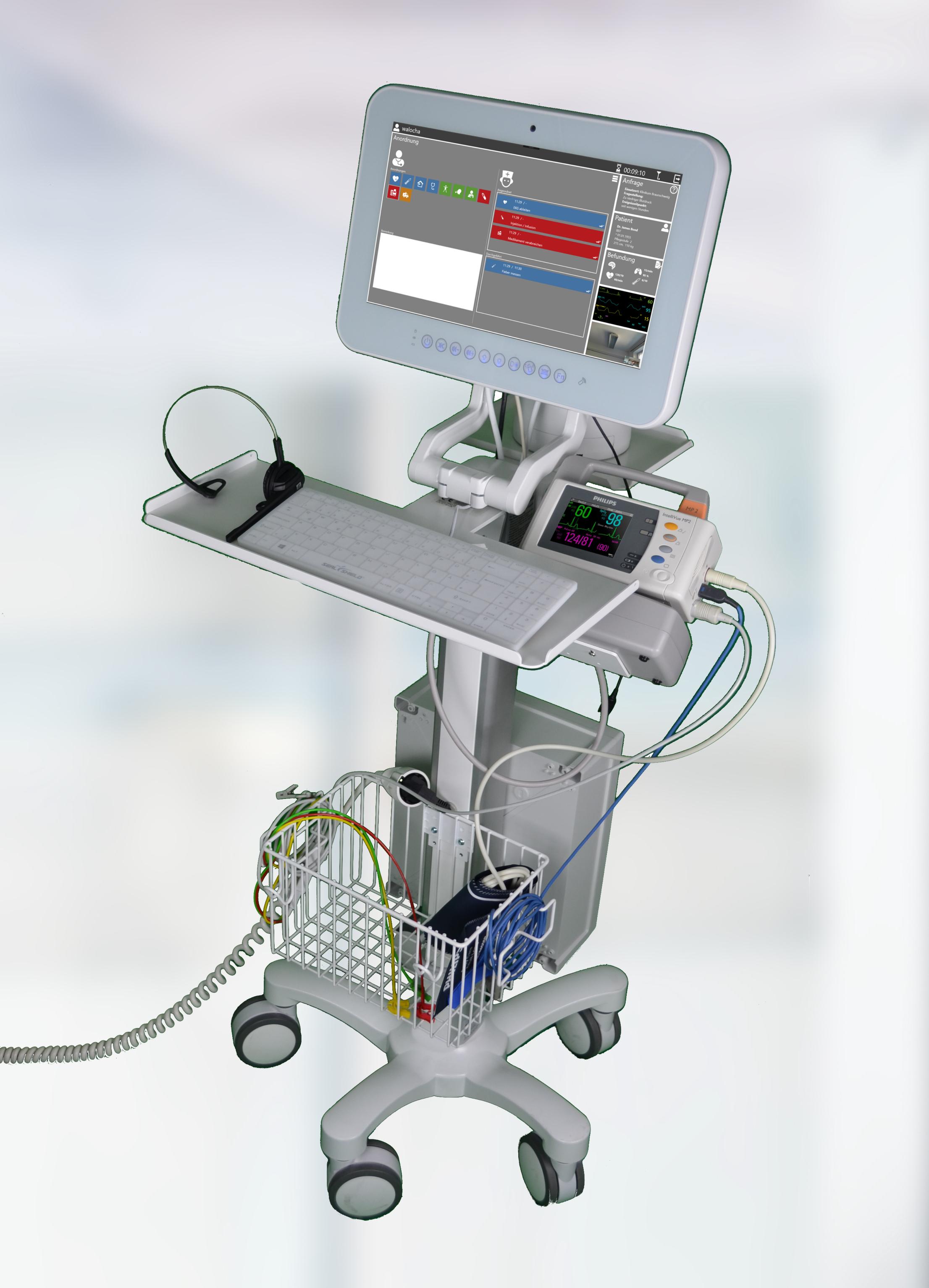 TeleDoc Medizinischer Rollständer