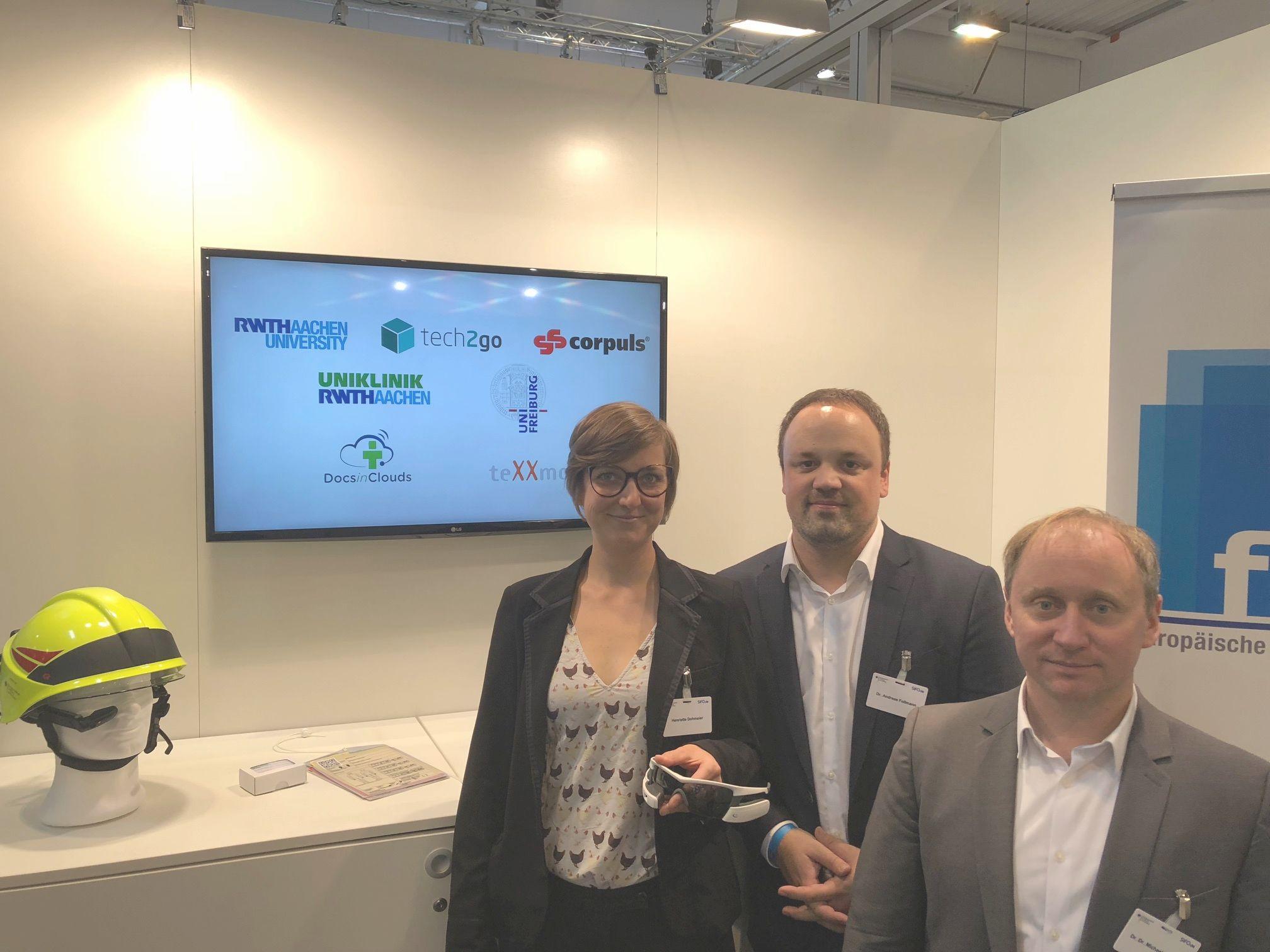 SECURITY fair trade Essen 2018 exhibition AUDIME smart glasses