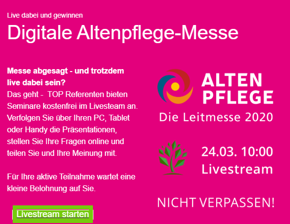 Digitale Altenpflege Messe 2020