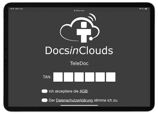 TeleDoc-Starter Videosprechstunde