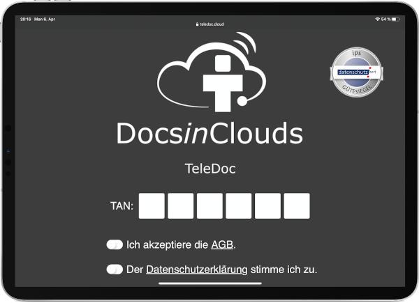 TeleDoc-Starter - Patientenansicht